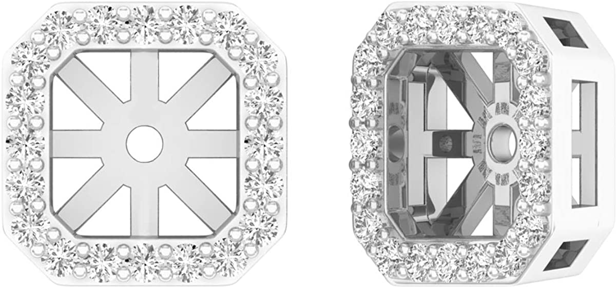 Dazzlingrock Collection 0.25 Carat (ctw) Round Diamond Removable Jackets For Stud Earrings 1/4 CT, Gold
