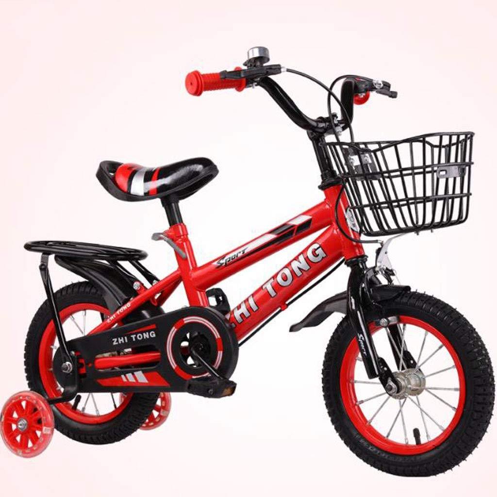 """K-G Bicicleta Infantil Niños Bici del niño con la Botella de Agua de Acero Ajustable niños Formación de Bicicletas de 2-9 años de Edad en tamaño 12"""" 14"""" 16"""" 18"""" (Color :"""