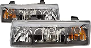 For 2002 2003 2004 Saturn Vue Headlights Headlamps Pair Set Replacement GM2502228 GM2503228