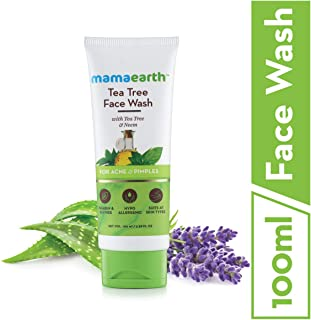 Mamaearth Tea Tree Facewash For Acne & Pimples, 100 ml