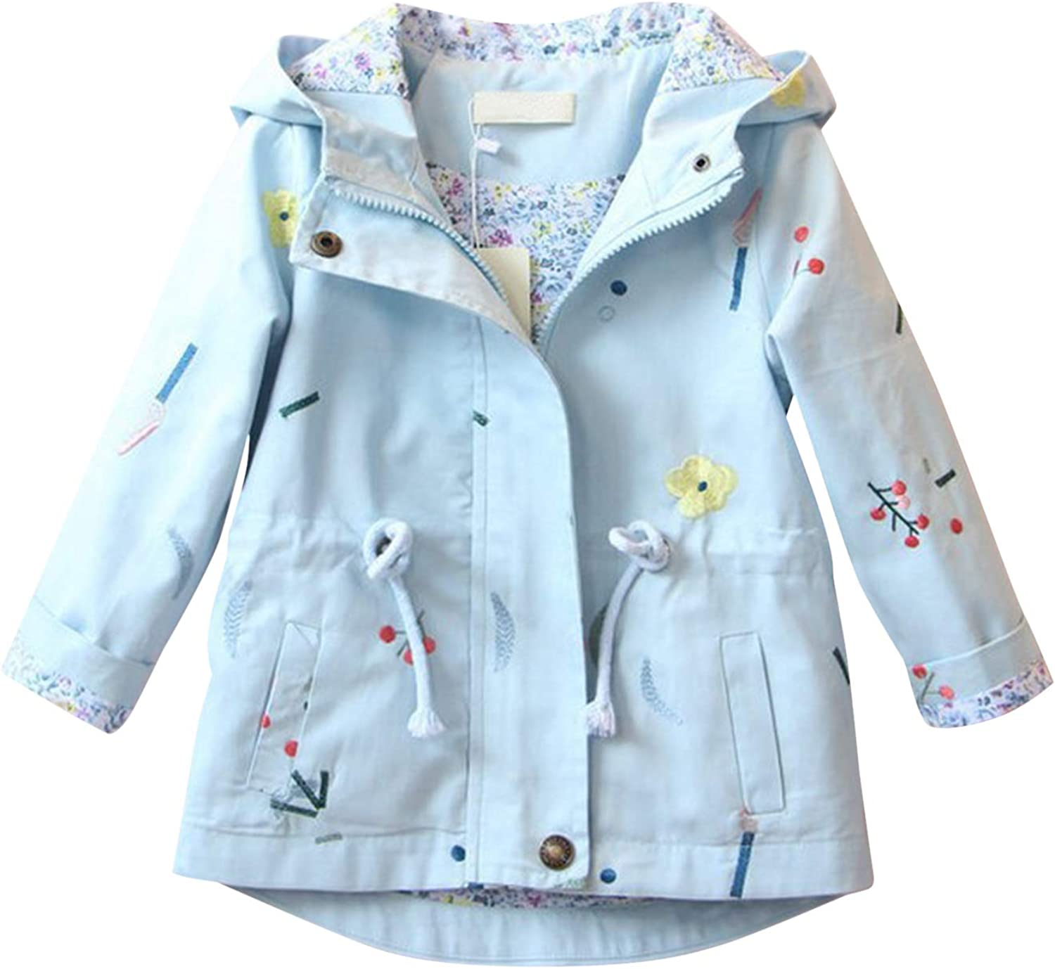 Evelin LEE Baby Girls Gorgeous Casual Fall Hooded Spring Jack Free shipping New Windbreaker
