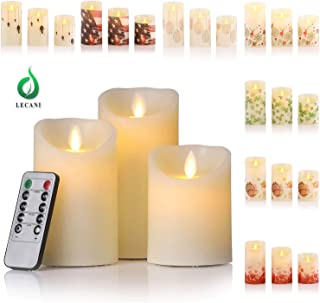 Candles Battery Operated, 7 Festival Sleeves Flickering Flameless Candles Timer Remote Control Halloween Thanksgiving Christmas Valentines Easter St Patrick Day 4th July Decorations