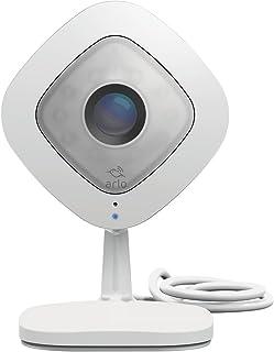 Arlo Q VMC3040-100PES - Cámara de seguridad y vigilancia IP (1080P HD, visión diurna/nocturna y audio, cámara adicional) blanco