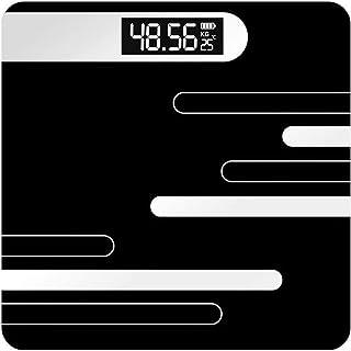 PJPPJH Báscula electrónica/Báscula de Peso Corporal/Básculas de Pesas Digitales/Básculas de baño/Portátil doméstico 28st / 180kg / 400lb, Pantalla LCD Diseño Delgado, Carga USB