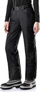 TSLA Women's Rip-Stop Snow Pants Windproof Ski Insulated Water-Repel Bottoms
