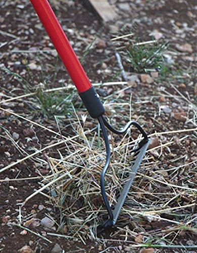 TABOR TOOLS J205A Level Head Rake with Strong Long 54 Inch Fiberglass Handle, 14-Tine Garden Rake.