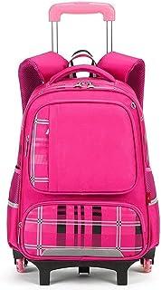XHHWZB Trolley Backpack Elementary Middle School Rolling Bag Wheeled Waterproof Bookbag for Kids Girls