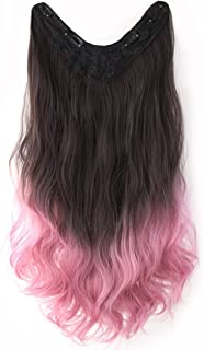 7JHH WIG Hair Extensions Clip In Human Hair Curly Wave Synthetic Wig for Women 13 Colors