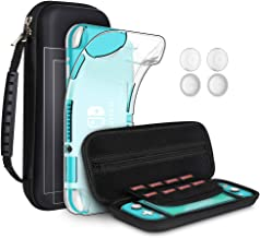 GeeRic 8PCS Case Compatible with Switch Lite, Accessories Kit Replacement for Switch Lite, 1 Soft Silicon Case + 2 Screen ...