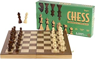 Regal Games Deluxe Wooden Chess Set with Foldable Game Board and Staunton Chess Pieces, 15 x 15 Inch