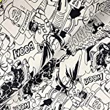 Glünz Wintersweat Comic grau - Stoff - Meterware - 0,5m x