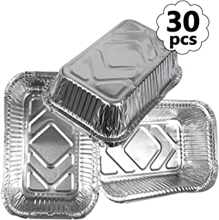 ATPWONZ Aluminum Foil Grill Drip Pans - Bulk Pack of Durable Grill Trays – Disposable BBQ Grease Pans – Compatible with Weber Grills for Baking Roasting Cooking