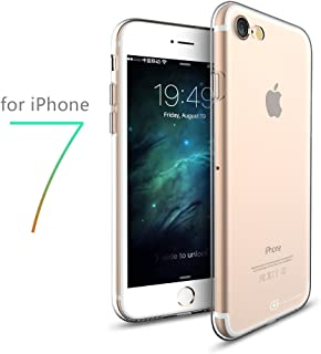 Apple iPhone 7 47 Clear Case Case Army Scratch Resistant Worlds Thinnest Ultra Flexible Silicone Cover with TPU Bumper Slim Soft TPU Rubber Limited
