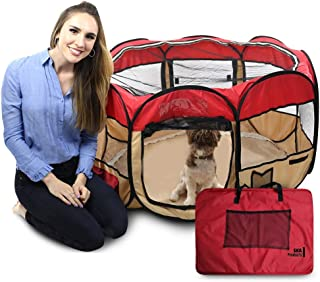 Pop Up Puppy Playpen 45-Inch for Travel, Indoor, Outdoor | Comfortable Mesh for Pets | Portable, Easy to Fold | Fun Featur...