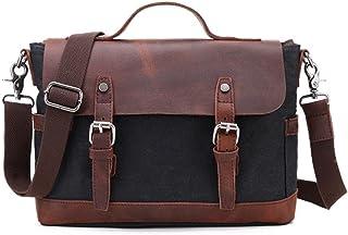 "Men's Accessories Office 9.7"" iPad Tablet Handbag Casual Business Briefcase Shoulder Messenger Crossbody Outdoor Recreation (Color : Black)"