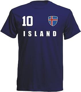aprom Island T-Shirt Fußball Trikot Sport - Navy ALL-10 WM EM