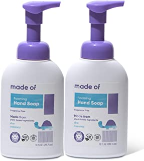 Organic Hand Soap by MADE OF - Dermatologist and Pediatrician Tested - NSF Organic and EWG Verified - For Sensitive Skin a...