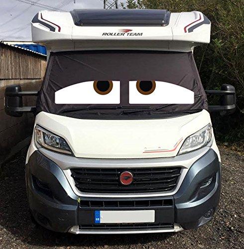 """Transporter-Windschutzscheiben-Abdeckung - lustiger Frost-Schutz und Sonnenblende für Wohnwagen - mit """"Augen"""" - personalisierbar"""