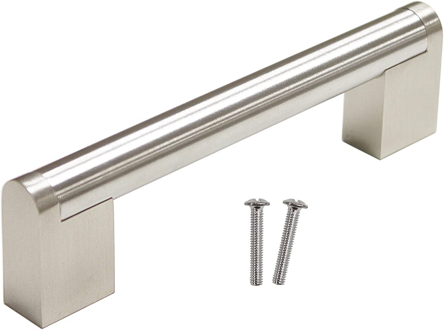 Gobrico 30 Pack Boss Bar Hole Center 96mm 3-3 4in Kitchen Cabinet Handle and Pull Furniture Hardware Drawer Cupboard Knob Brushed Nickel