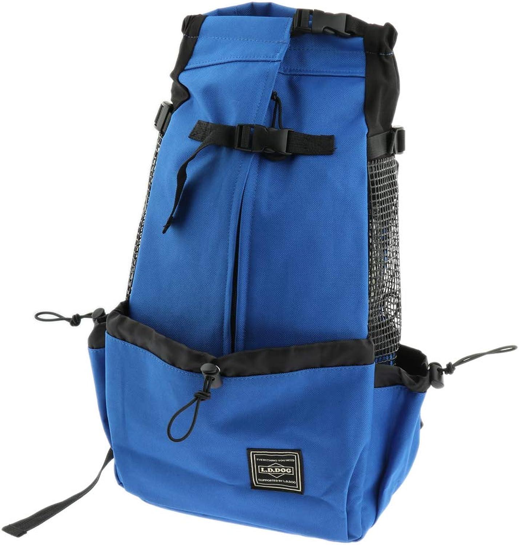 Baoblaze Portable Outdoor Cat Dog Pet Backpack with Breath Hole Carrier Shoulder Bag  bluee M