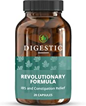 Digestic™ - Constipation IBS Relief - 100% Natural Ingredients - (20 Capsules) New Breakthrough Formula - IBS Supplement for Constipation, Bloating and Gas Relief. Organic & Vegan Laxative