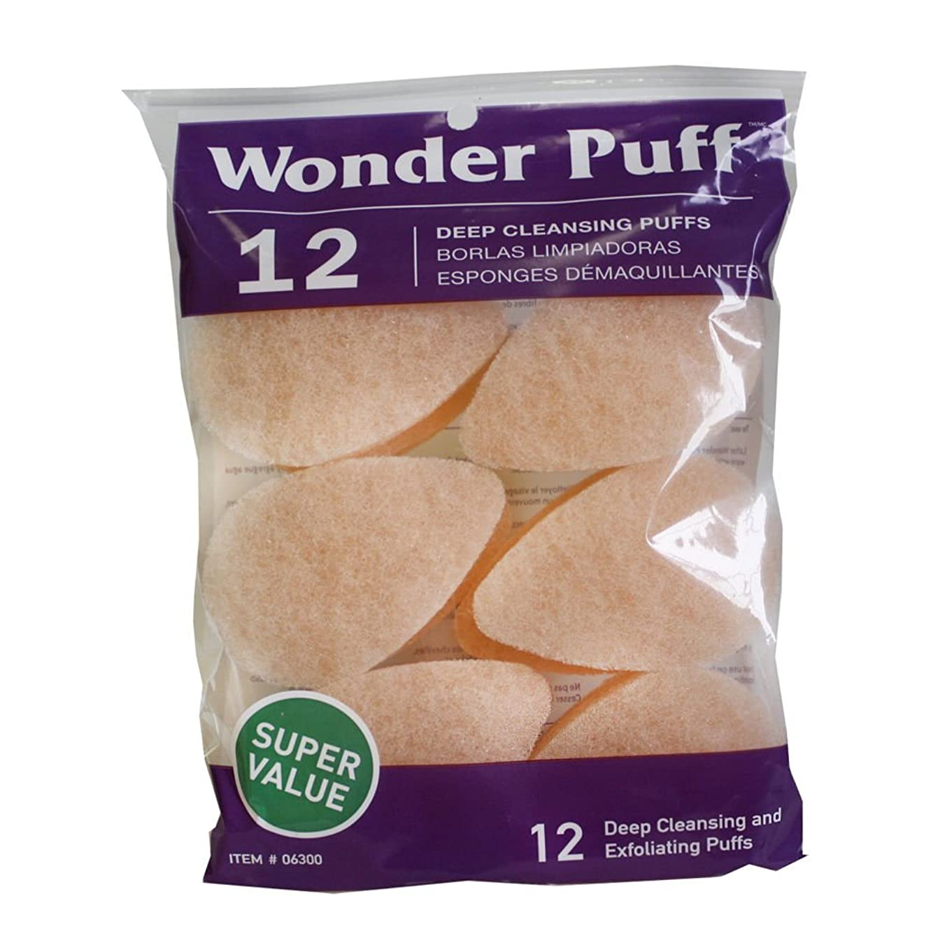 妖精暗黙拍車Wonder Puff Deep Cleansing Puffs 12's (並行輸入品)