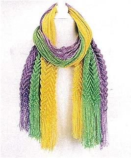 mardi gras chevron scarf