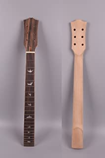 Yinfente guitar neck 22 fret 24.75 inch Mahogany rosewood Fretboard Bolt LP electric guitar Bird inlay unfinished