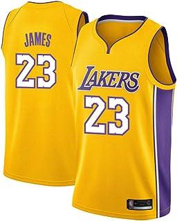 XZM Magliette per Bambini Maglietta Sportiva in Mesh Traspirante Uniforme da Basket Maglia da Basket Lebron James Los Angeles Lakers
