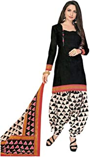 Ethnic Printed Cotton Salwar Kameez with Salwar Pants