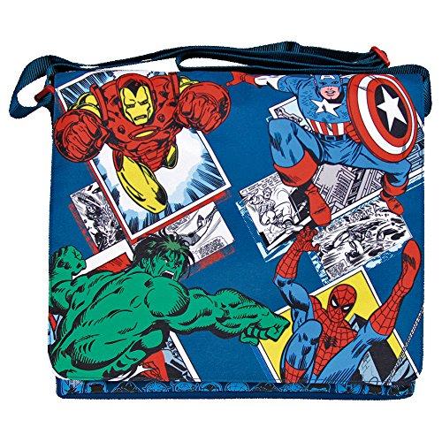 Marvel Avengers Umhängetasche für Jungen - Flache Umhänge für Kinder mit Captain...