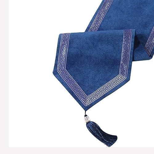 barato GXYWPJ-zhuoqi Table Runners clásico Pana en en en Color sólido con Borla Mesa Mesa de café decoración (Color  azul, tamaño  32X180CM) (Color   azul, Tamaño   32  200cm)  garantizado