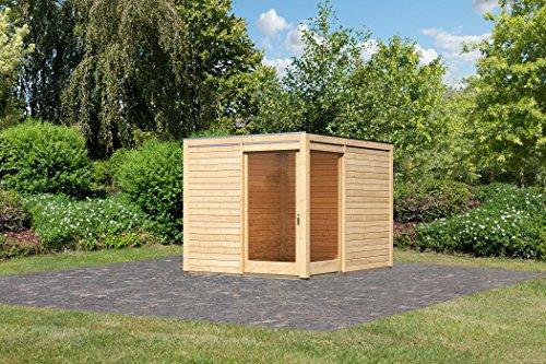 Unbekannt Karibu Gartenhaus Cubus Eck 1 naturbelassen 28 mm