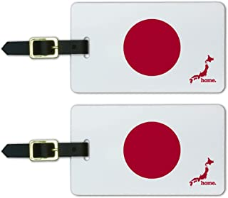 Graphics & More Japan Home Country Luggage Suitcase Id Tags-Flag, White