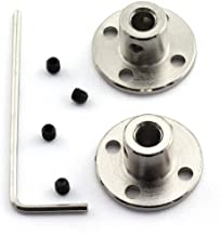 HJ Garden 2pcs 5mm Flange Shaft Coupling High Hardness Metal Flanged Joint Guide Shaft Support Coupler for DIY Model Shaft Connection