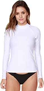Women's UV Sun Protection Long Sleeve Rash Guard Wetsuit Swimsuit Top