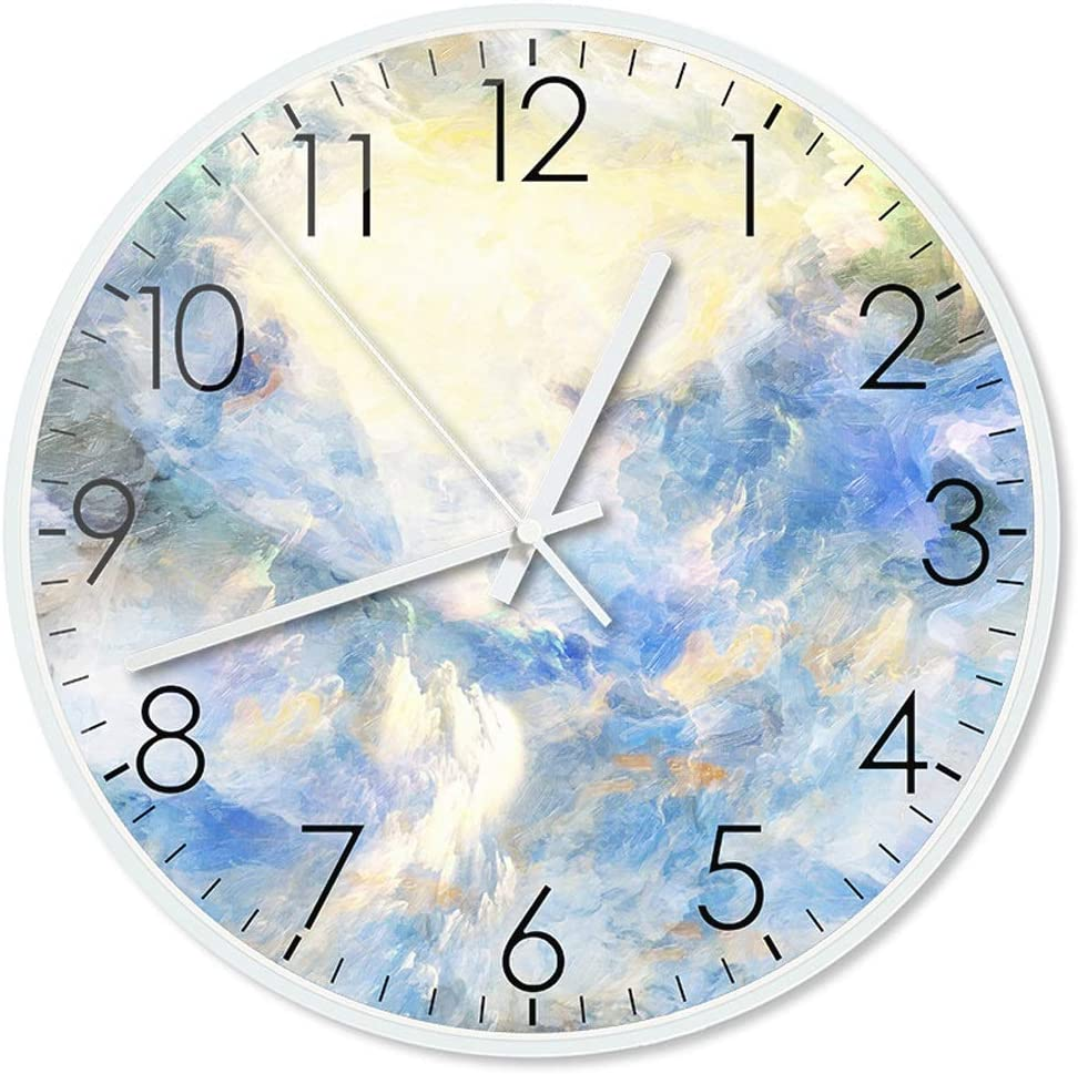 Wall Clock WGZ White Metal Popular popular Creative Round Abstract 35% OFF Geom Border