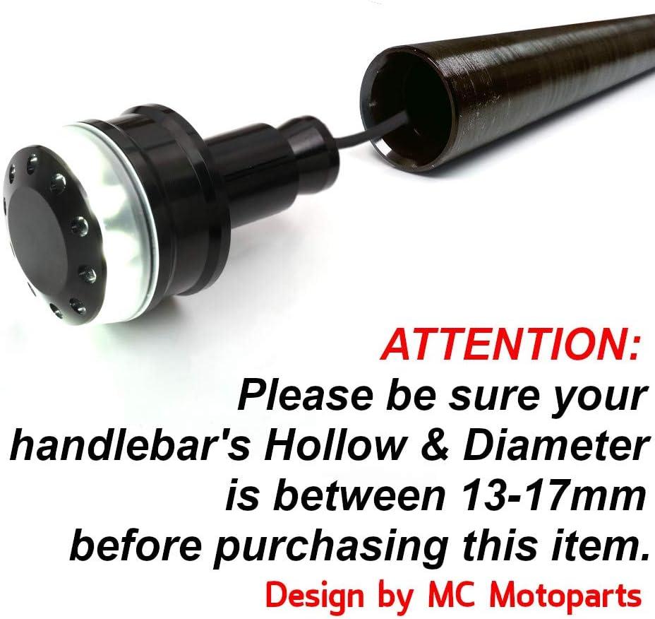 Black MC Motoparts STORM CNC Bar End Weights For Honda CTX 700 N 2013-2016 14 15 CB125R NEO SPORTS CAF/¨/¦ 18-19