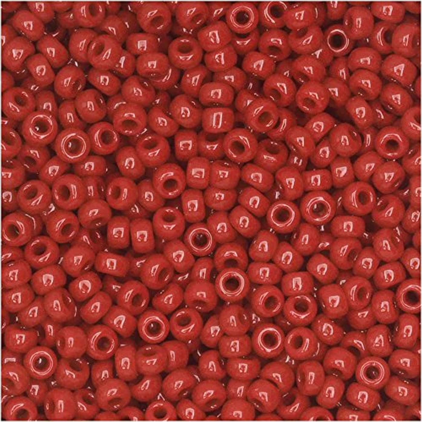 Maroon Red Opaque Miyuki Japanese round rocailles glass seed beads 11/0 Approximately 24 gram 5 inch tube