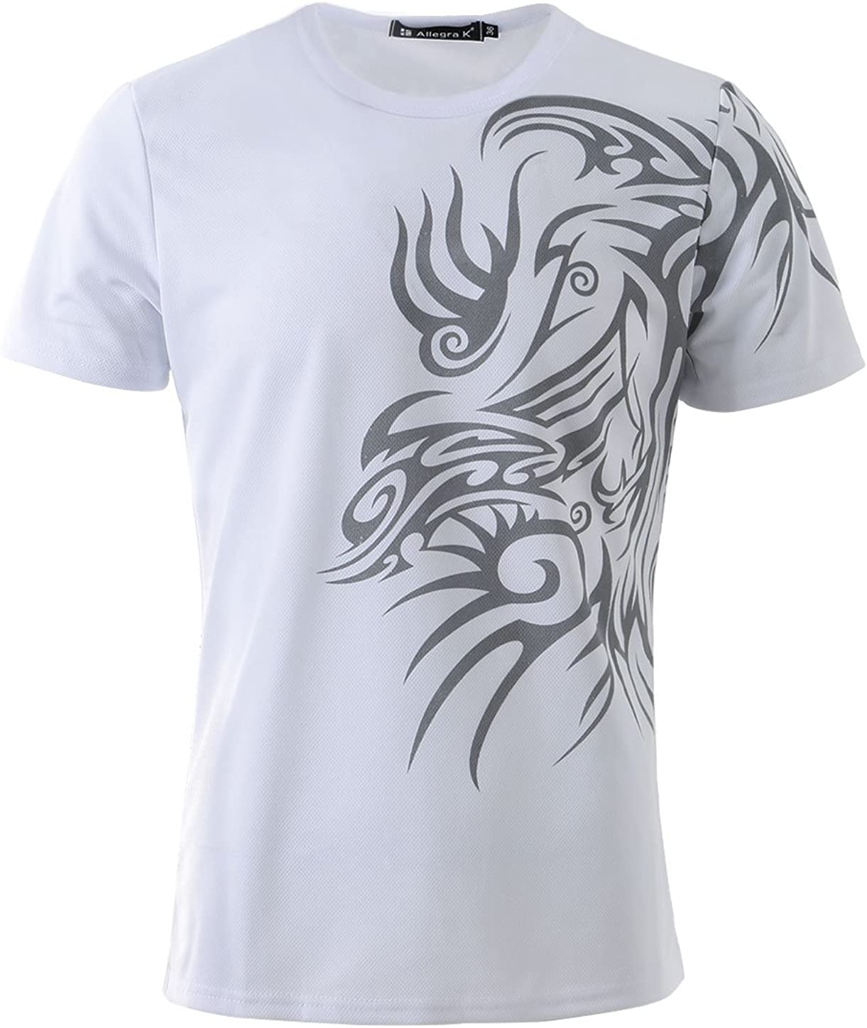 T-Shirt Kurzarm Mit Aufdruck Rundhals Casual Slim Fit OZONEE JS//SS10925 Herren