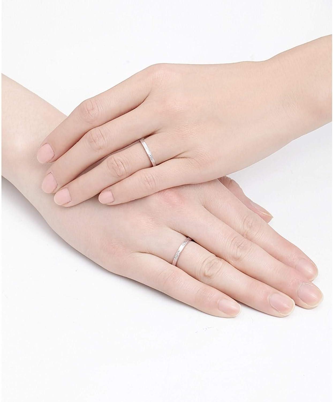 Epinki PT950 Platinum Couple Matte Texture Ring Wedding Engagement Rings Men