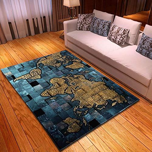 YQZS Interieur Duurzaam Tapijt Goud Blauw Steen Koffie Tafel Slaapkamer Tapijt Thuis Grote Tapijt Mat 120X160(47X63inch)