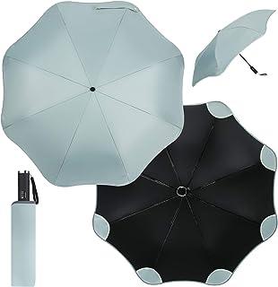 Rounded-Corner Folding Umbrella- Automatic Open & Close Button, Windproof Compact Travel Umbrella, Sunshade Umbrella, UV P...