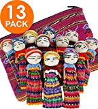 12 Super Cute Worry Dolls  + 1 Free Guatemala Fabric Bag - Handmade Worry Doll for Our Guatemala Worry Dolls Set - Worry Dolls Guatemala - Guatemalan - Guatamalen