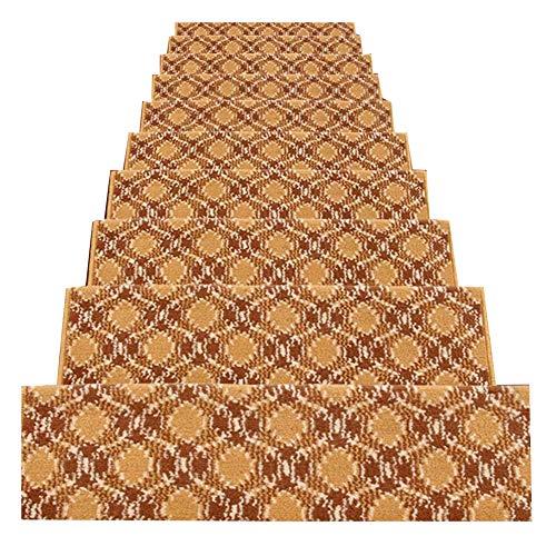 LIXIONG Scale Tappetino Pad, 5 Pezzi,Europea Stile Scala Tappeto Passaggio Pad in Massello Anti Scivolo Autoadesivo Adesivo Rettangolare Pad (Colore : 2#-5 Pieces, Dimensioni : 100x(24+3) cm)