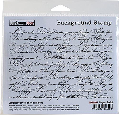 Darkroom Door Elegant Script Background Cling Stamp, 4'X6'