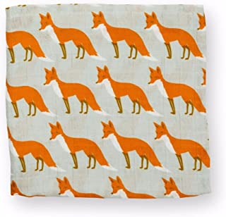 Milk Barn Baby Swaddle Baby Blanket Orange Fox