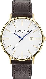 197f1730b6f0 Kenneth Cole Reloj Analógico para Hombre de Cuarzo con Correa en Cuero  KC15059005