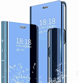 RanTuo Case for Realme V13 5G, Ultra-thin Translucent Mirror+PU Leather Smart Flip Cover Case, With Bracket, Cover for Rea...