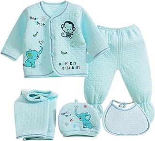 Conjunto de pijamas para bebé o niña, 5 piezas, suave y cómodo, para bebé recién nacido, pantalón para bebé de 0 a 3 m, diseño de letra